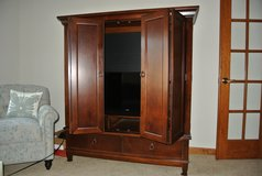media cabinet made of high quality solid wood in Westmont, Illinois