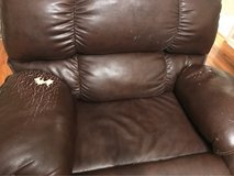 Large leather recliner in Perry, Georgia