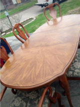 8 pc Queen Anne Dining Table in Houston, Texas