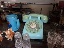 Blue Retro Dial Telephone in Fort Riley, Kansas
