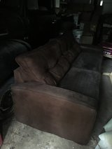 Brown sofa in Conroe, Texas