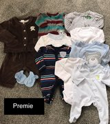 Premie Baby Clothes (10 Items) in Fort Irwin, California