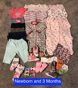 Infant Girls Clothing Size 3 and 6 Months + Accessories (28 Items) in Fort Irwin, California