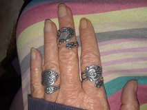 3 antique spoon rings adjustable in Baytown, Texas