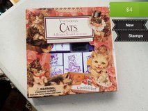Cat stamps in Vacaville, California