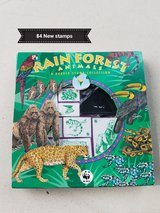 Rainforest animal stamp set in Vacaville, California