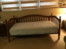 "Solid oak day bed (79"" length, 39"" wide, 37"" to top of post) in Plainfield, Illinois"