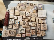 Different wood stamps in Vacaville, California
