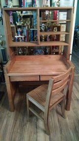 Solid wood desk w/chair in Houston, Texas