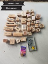 Small wooden stamps in Vacaville, California