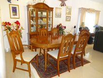 Solid Wood Dining Room  Set with China Cabinet in Baumholder, GE