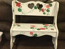 Small Painted Decorative Bench in Glendale Heights, Illinois