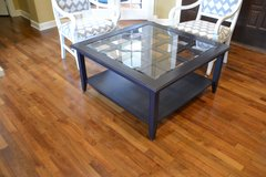 coffee table 40 x 40 dark navy . solid wood table. really nice in Morris, Illinois