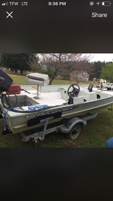 96' 16' roughneck 50 hp Johnson road king trailer minn-Kota  trolling motor in Goldsboro, North Carolina