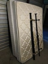 Mattress full size pillow top with box spring and metal frame in Fort Bliss, Texas