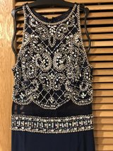 Navy Blue Sequence Formal dress in Okinawa, Japan