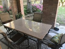 granite table and chairs in Kingwood, Texas