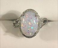 New* Sterling Sliver w/ Synthetic Opal Stone Ring in League City, Texas