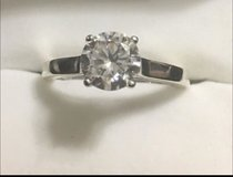 New* Sterling Sliver CZ Engagement Ring in Baytown, Texas