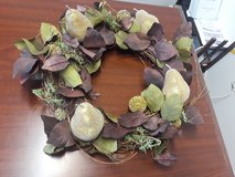 Gorgeous wreath with pears in Tinker AFB, Oklahoma