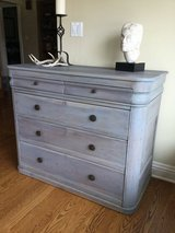 Dresser, cape cod gray/blueish stained solid wood in Westmont, Illinois
