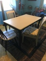 "Table 4 chairs gray black 3o""wide 48"" long in Kingwood, Texas"