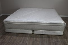 King Size Mattress Eurotop with Boxes in Kingwood, Texas