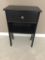 Small Black Painted Nightstand in Naperville, Illinois