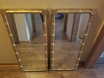 Rustic matching gold antique mirrors in Bolingbrook, Illinois