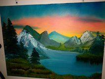 oil painting done by me I think it's 18 x 24 canvas in Glendale Heights, Illinois