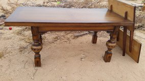 Long Wood Dining Table in Yucca Valley, California