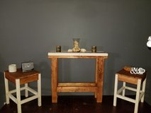 Antique White and Walnut table set in Philadelphia, Pennsylvania