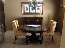 Dining room table and buffet yellow chairs NOT included. Great shape. in Joliet, Illinois