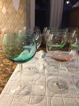 Wine Glasses, lighted tinted colors in Kingwood, Texas