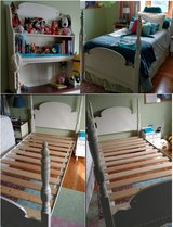 Hutch and Twin Bed Frame in Aurora, Illinois