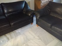 leather black couch in Rota, Spain