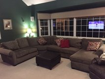 Full sectional sofa/couch w/lounger for sale in Naperville, Illinois
