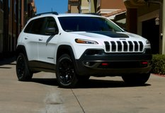 """2015 Jeep Cherokee Trailhawk OEM 17"""" Black Painted Wheels/Rims with Used Tires in Plainfield, Illinois"""