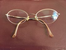 Gold Frames for glasses by Kenmark, Hush Puppies  (Clip on Sunglasses for additional $5) in Joliet, Illinois