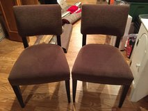 2 Side Chairs - Brownish Striped Fabric - Excellent Condition in Aurora, Illinois