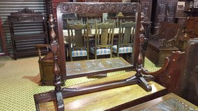 Carved Oak Swing Mirror, perfect for a dressing table in Lakenheath, UK