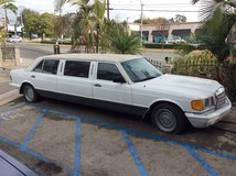 Classic 1982 White Mercedes Benz 500 SEL Stretch Limo in Yucca Valley, California