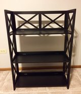 Nice!  DECORATIVE BLACK 3 SHELVES/BOOKCASE  LIKE NEW! in Joliet, Illinois