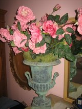vintage verde green iron urn with handles in Bolingbrook, Illinois