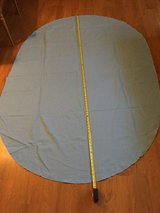 """80"""" Blue Oval Cloth Tablecloth in Chicago, Illinois"""