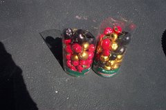 TWO CONTAINERS OF APPLE ORNAMENTS in Bolingbrook, Illinois