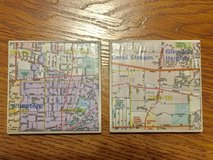 2 Beverage Coasters.  One of Wheaton & the other Carol Stream / Glendale Hts. in Chicago, Illinois