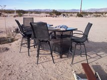 Patio Bar Table & 4 Swivel Chairs in Yucca Valley, California