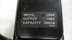"""US 120 volts """"step-down"""" to Japanese 100 volts Transformer in Okinawa, Japan"""