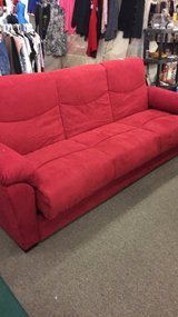 Red Couch (New) Turns into a full size bed in Fort Leonard Wood, Missouri